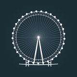 Ferris wheel silhouette. Carousel icon. Vector Illustration