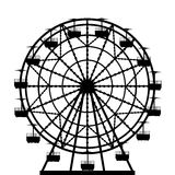 Ferris wheel  silhouette. Illustration of a ferris wheel from an amusement park Stock Photography