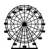 Ferris wheel  silhouette Stock Photography