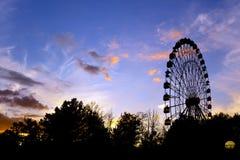 Ferris wheel silhouette stock images