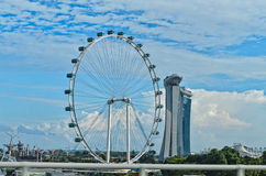 Ferris wheel Singapore Flyer. Gigantic Ferris wheel known as the Singapore Flyer Stock Photography