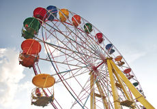 Ferris wheel in the sky Stock Image