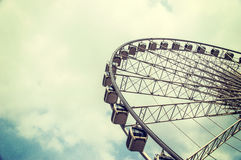 Ferris wheel on the sky. Background stock photos