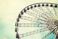 Ferris wheel on the sky. Background stock photo