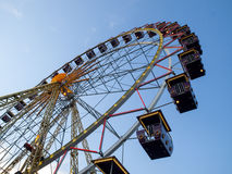 Ferris wheel. On sky background royalty free stock photos