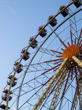 Ferris wheel. On sky background royalty free stock photography