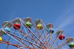 Ferris wheel on sky background. In amusement park Royalty Free Stock Photography