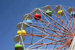 Ferris wheel on sky background. In amusement park Royalty Free Stock Photos