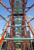 Ferris wheel on sky background. In amusement park Royalty Free Stock Images