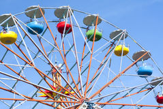 Ferris wheel on sky background. In amusement park Royalty Free Stock Image
