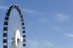 Ferris wheel on sky background Stock Image