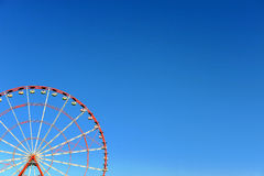 Ferris wheel with sky on background Stock Image