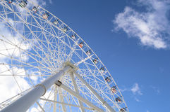 Ferris wheel on the sky background. Kazan, Russia Royalty Free Stock Photography