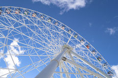 Ferris wheel on the sky background Royalty Free Stock Image