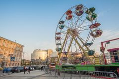 The Ferris wheel on Sofia`s Square Royalty Free Stock Photography