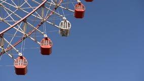 Ferris wheel spinning stock video
