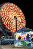 Ferris Wheel. Spinning at night Stock Images