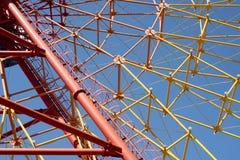 Ferris wheel spokes Royalty Free Stock Photos