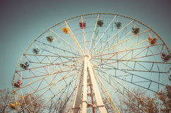 Ferris wheel. On the street in Yalta stock image