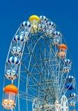 Ferris Wheel su cielo blu Immagini Stock Libere da Diritti