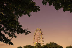 Ferris wheel in the summer Stock Photo