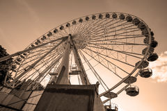 Ferris wheel in the summer Stock Image