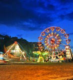 Ferris wheel in a summer night Stock Images