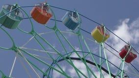 Ferris wheel in the summer Park. Ferris wheel in the summer City Park stock video