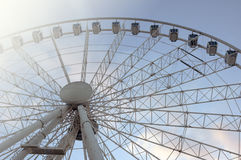 Ferris wheel in summer. Temporary ferris wheel in Budapest, Hungary Royalty Free Stock Image