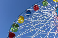 Ferris wheel, Sunny day, blue sky, attraction, amusement Royalty Free Stock Photo