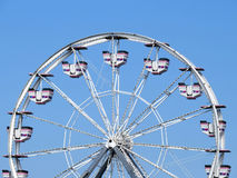 Ferris wheel on sunny day. An empty ferris wheel in Maine on a blue sky day Royalty Free Stock Photo