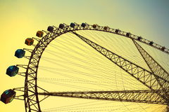 Ferris wheel at sunrise Royalty Free Stock Photo