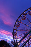 Ferris Wheel at Sunset Stock Photos