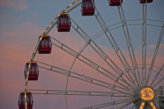 Ferris wheel at sunset Royalty Free Stock Image