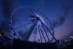 Ferris wheel on sunset Royalty Free Stock Photography