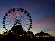 Ferris wheel sunset Royalty Free Stock Photo