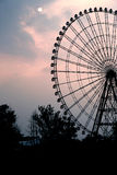 Ferris wheel at sunset Royalty Free Stock Photos