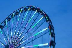 Ferris Wheel At Sunset de giro Imagens de Stock
