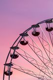 Ferris wheel at the sunset stock image