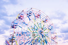 Ferris wheel at sunset Royalty Free Stock Images