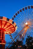 Rides at Navy Pier, Chicago stock photography