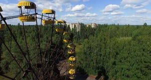 Ferris wheel - the symbol of the exclusion zone. Pripyat, Chernobyl Stock Photo