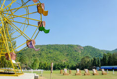 ferris wheel and target rang in park Royalty Free Stock Photo