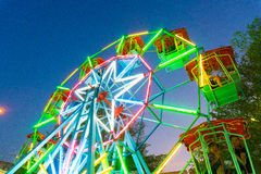 Ferris wheel at temple fair royalty free stock photography