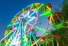 Ferris wheel at temple fair Royalty Free Stock Photo