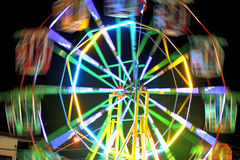 Ferris wheel in the temple fair, Thailand. Royalty Free Stock Image