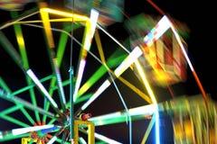 Ferris wheel in the temple fair, Thailand. Royalty Free Stock Photos