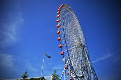 Ferris wheel in Tempozan Harbor Village, Osaka, Japan Royalty Free Stock Photos