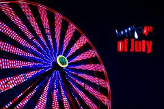 Ferris Wheel on the 4th of July Royalty Free Stock Photos