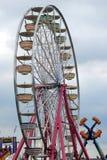 Ferris wheel in theme park. Scenic view of ferris wheel in theme park or fairground Stock Image